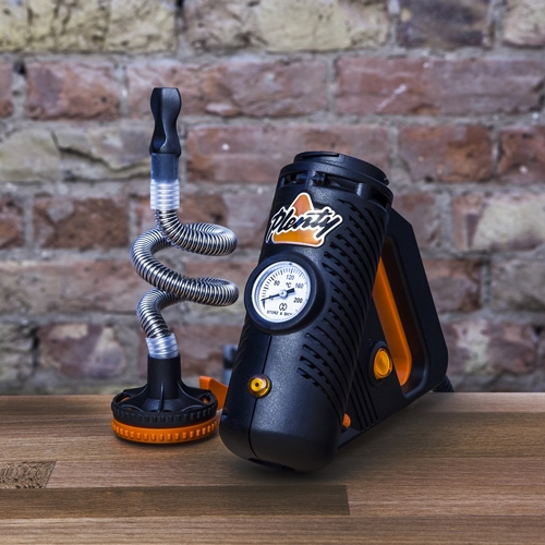 The Plenty vaporizer has a very unique look and resembles a power tool